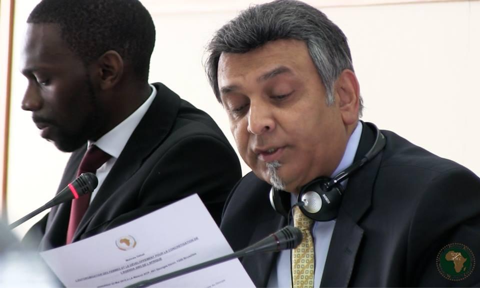 Kinoss Dossou et le Représentant Perm Union Africaine à Bruxelles